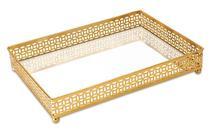 Bandeja Dourada em Met c/ Espelho 9617 Mart -