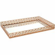 Bandeja em Metal cor Cobre com Espelho Mart Collection 09643 -
