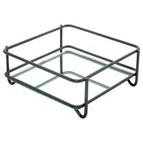 Bandeja Espelhada Fence Onix 15x25cm Retangular - Hara