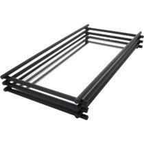 Bandeja Espelhada Wire Black Matte 10x20cm - Hara