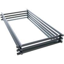 Bandeja Espelhada Wire Onix 10x10cm - Hara