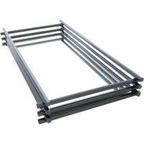 Bandeja Espelhada Wire Onix 10x20cm - Hara