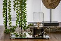 Bandeja Isabela Espelho com Aramado Cromado 10cm (a) X20cm de (c) - 1645 Hara -