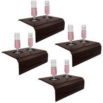 Bandeja Porta Copo para Sofá Kit com 4 Tradicionais Tabaco - Dikaza móveis e decorações