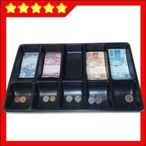 bandeja porta dinheiro notas cédulas moedas divisor - Balcões.Tk