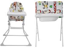 Banheira de Bebê Galzerano com Suporte e Trocador - Standard Girafa Dobrável +Cadeira de Alimentação