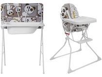 Banheira de Bebê Galzerano com Suporte e Trocador - Standard Panda Dobrável + Cadeira de Alimentação