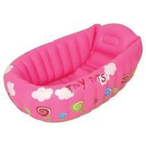 Banheira inflável para bebe cor rosa mor c/ indicador de temperatura - Metalurgica Mor
