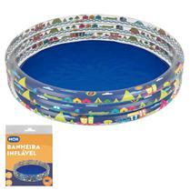 Banheira Piscina Inflável Infantil 450 Litros Redonda - Mor -