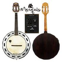 Banjo Elétrico Profissional Jacarandá Maciço Marquês BAJ99NTQMQ + Acessórios - Marques