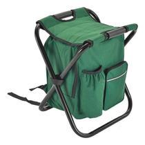 Banqueta camping 2 em 1 cadeira dobravel com bolsa mochila semi termica banco para pesca pesqueiro - Gimp