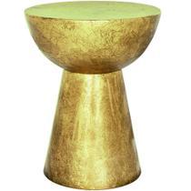 banqueta em metal dourado - Mart