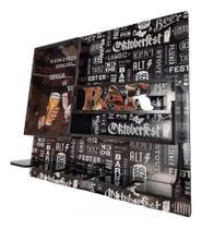 Bar adega de parede c/ porta taça e visor de acrilico (porta rolha) - Girassol