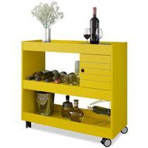 Bar Aparador 01 Porta Cristal Amarelo - Bechara -
