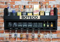 Bar Barzinho Adega Suporte de Parede Para Whisky Vinhos Bebidas 100x45cm Drinks Preto Fosco - Soul Fins