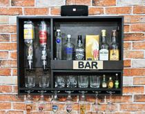 Bar Barzinho De Parede Adega Vinhos Bebidas Com Dosador Duplo 83x60cm Tabaco Fosco - Soul Fins
