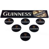 Bar Mat Esteira Escorredor E 6 Porta Copos Guinness - Versare Anod Dourados