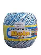 Barbante 350m Bola Color Azul Bebê/Branco - Barbantes Piratininga