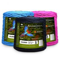 Barbante Amazônia 8 fios 2kg Colorido - São João
