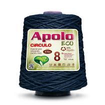 Barbante Apolo Eco nº8 com 600g Círculo - Azul Marinho 2934 -