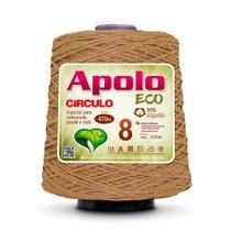 Barbante Apolo Eco nº8 com 600g Círculo - Castanha -