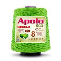 Barbante Apolo Eco nº8 com 600g Círculo - Limão -