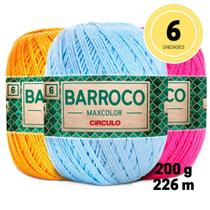 Barbante barroco maxcolor 200g circulo kit com 06 unidades