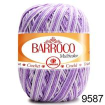 Barbante Barroco Multicolor 200g COR 9587 Nº6  - Círculo