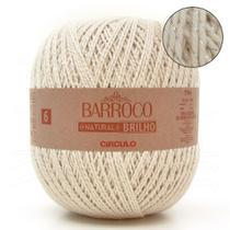 Barbante Barroco Natural Brilho Prata nº06 700g - Círculo