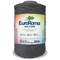 Barbante Big Cone Colorido nº6 c/ 1,8kg EuroRoma - Cor 350 Chumbo - Eurofios