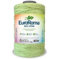Barbante Big Cone Colorido nº6 c/ 1,8kg EuroRoma - Cor 801 Verde Limão - Eurofios