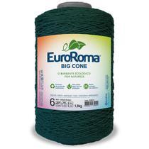 Barbante Big Cone Colorido nº6 c/ 1,8kg EuroRoma - Cor 804 Verde Musgo - Eurofios