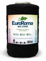Barbante Big Cone Colorido nº6 c/ 1,8kg EuroRoma - Preto -