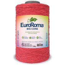 Barbante Big Cone Colorido nº6 com 1,8kg EuroRoma - Cor  1070 Melancia - Eurofios -