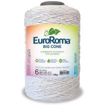 Barbante Big Cone Colorido nº6 com 1,8kg EuroRoma - Cor 200 Branco - Eurofios