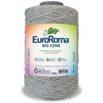 Barbante Big Cone Colorido nº6 com 1,8kg EuroRoma - Cor 270 Cinza - Eurofios