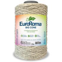 Barbante Big Cone Colorido nº6 com 1,8kg EuroRoma - Cor 300 Caqui - Eurofios