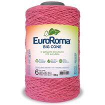 Barbante Big Cone Colorido nº6 com 1,8kg EuroRoma - Cor 500 Rosa - Eurofios