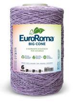 Barbante Big Cone Colorido nº6 com 1,8kg EuroRoma - Cor 600 Lilás Claro -