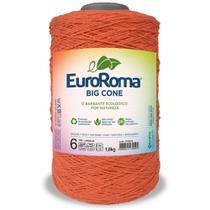 Barbante Big Cone Colorido nº6 com 1,8kg EuroRoma - Cor 750 Laranja - Eurofios