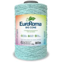 Barbante Big Cone Colorido nº6 com 1,8kg EuroRoma - Cor 800 Verde Água Claro - Eurofios