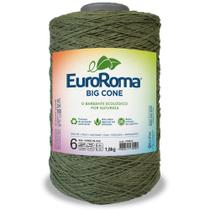 Barbante Big Cone Colorido nº6 com 1,8kg EuroRoma - Cor 805 Verde Militar - Eurofios