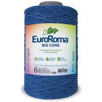 Barbante Big Cone Colorido nº6 com 1,8kg EuroRoma - Cor 903 Azul Royal - Eurofios