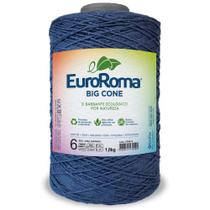 Barbante Big Cone Colorido nº6 com 1,8kg EuroRoma - Cor 904 Azul Marinho - Eurofios