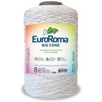 Barbante Big Cone Colorido nº8 c/ 1,8kg EuroRoma - Branco - Eurofios