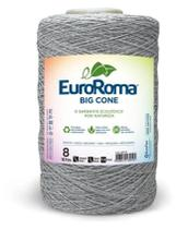 Barbante Big Cone Colorido nº8 c/ 1,8kg EuroRoma - Cinza -