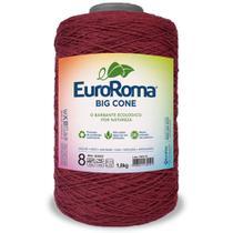 Barbante Big Cone Colorido nº8 c/ 1,8kg EuroRoma - Cor 1050 Bordô - Eurofios