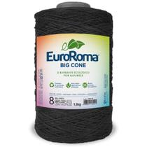 Barbante Big Cone Colorido nº8 c/ 1,8kg EuroRoma - Preto - Eurofios