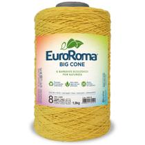 Barbante Big Cone Colorido nº8 com 1,8kg EuroRoma - Cor 450 Amarelo Ouro - Eurofios