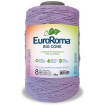 Barbante Big Cone Colorido nº8 com 1,8kg EuroRoma - Cor 600 Lilás Claro - Eurofios